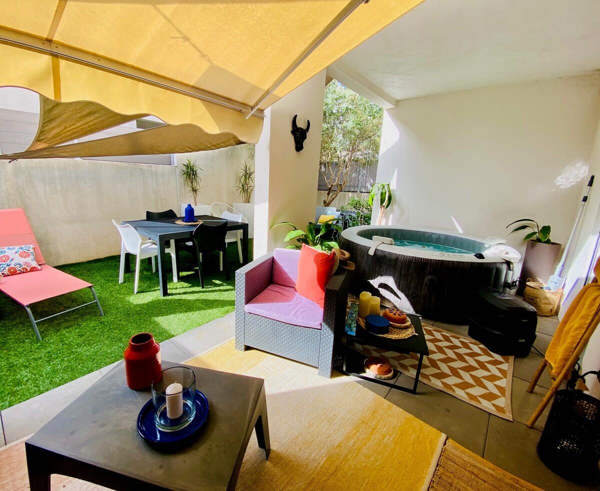 Appartement DUPLEX en rez-de-jardin